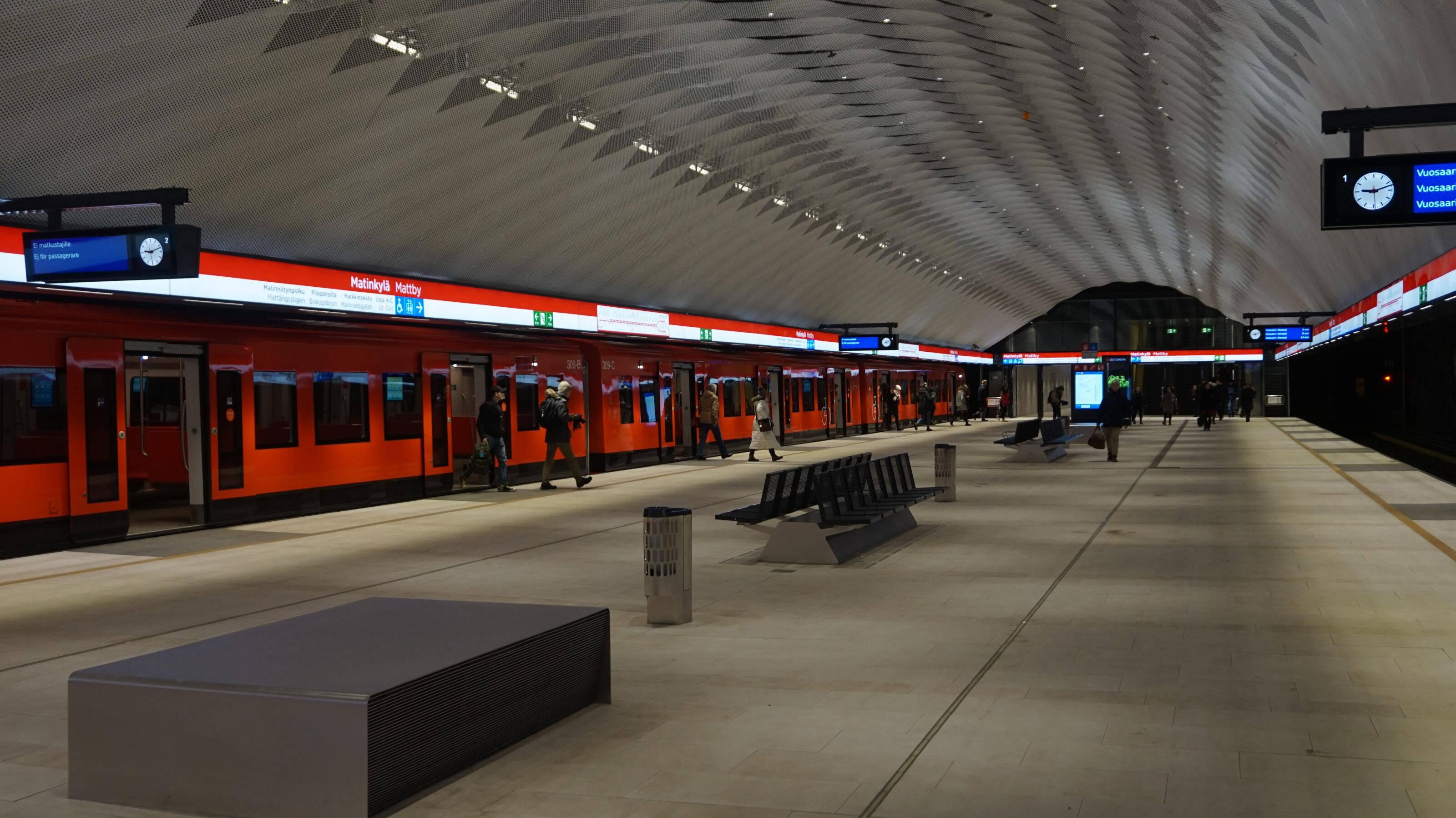 The Helsinki Metro System Is A Major Transit Hub In
